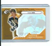 RARE limited BOBBY ORR boston bruins SPX LASTING IMPRESSIONS card 258/750