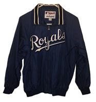 Vintage Majestic MLB Authentic Kansas City Royals Sewn Blue Jacket Youth Large