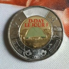 2019 NEW D-Day Jour J Colored Commemoration 75th anniversary toonie Canada coin7