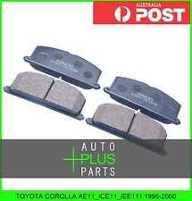 Fits TOYOTA COROLLA AE11_/CE11_/EE111 1995-2000 - Brake Pads Disc Brake (Front)