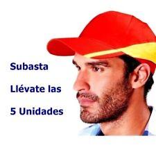 5 Gorras unisex adulto ajustable. Rojo Amarillo. 5 Unidades