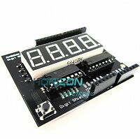 "Arduino Digit Shield 0.56"" 7 seg 4 digit Red LED Digital Display Shield"