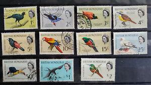 British Honduras 1962 Birds 1c - $2 11 values USED