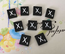 10 (TEN) Letter X, Black  Scrabble Tiles Letters, Individual, A to Z in Stock!