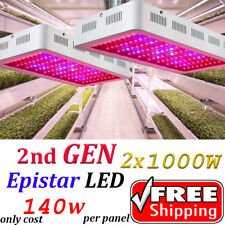 2PCS 2nd GEN 1000W Led Grow Lights Full Spectrum Lamp Panel Plant Light