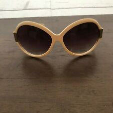 VTG A.J. Morgan Ivory Oversize Round Retro Sunglasses 53198