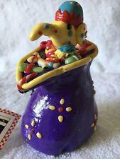 Rare Nwt Mary Engelbreit Me Ink Xmas Ornament Xmas Corner Elf In Purple Toy Bag