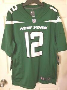 New York Jets NFL Nike Classic Green Joe Namath #12 Large Jersey