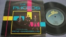PHOTOS Irene / Barbarellas UK Epic PICTURE SLEEVE New Wave Pop Rock