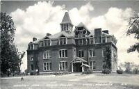 Crete Nebraska~Doane College~Merrill Hall~1950s Real Photo Postcard~RPPC