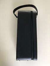 New listing Wine Carrier Black Fancy Suede Interior Zipper Bottle Opener Never Used