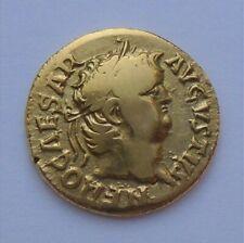 NERO AV light aureus, ROME, gold ancient roman coin, 3,8g