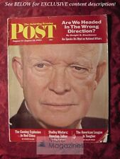 Saturday Evening Post August 11-18 1962 SHELLEY WINTERS EISENHOWER