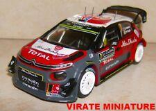 News C3 WRC Rallye montar Carlo 2017 Kris Meeke Ixo 1/43