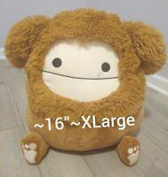 "RARE New Squishmallow 16"" Benny Bigfoot Brown Stuffed Animal Pillow Soft Plush"
