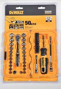 "NEW DeWALT 1/4"" Drive 50 Piece Mechanics Tool Set Kit DWMT81610 Socket Set"