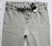 BNWT NEXT grey joggers casual loungewear brushed cotton wide leg warm trousers