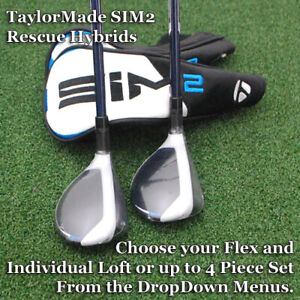 TaylorMade 2021 SIM2 Max Rescue Hybrids - Choose Individual or Set & Flex - NEW