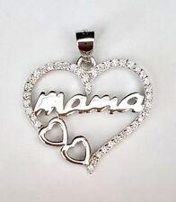 CORAZON MAMA AMOR COLGANTE EN PLATA LOVE SILVER PLATA 925 STERLING LOVE HEART