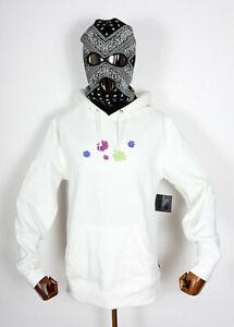Huf Worldwide Sweatshirt Hooded Pullover Hoodie Psycho Daisies Unbleached in M