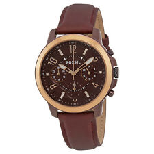 Fossil ES4116 Gwynn Burgundy Dial Leather Strap Chronograph Women's Watch