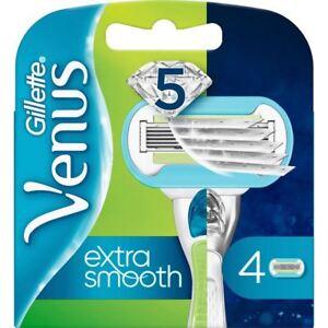 4 x Gillette Venus Embrace Women's Sensitive 5-Bladed Smooth Razor Blade Refills