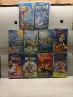 Bundle Of Walt Disney Classic VHS Tapes Lion King Toy Story Peter Pan