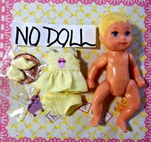 Krissy Happy Family Doll Clothes Mini Itty Bitty Teeny Tiny Dress/Panty/Booties