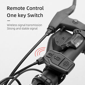 Tail Light Intelligent Wireless Remote Control LED Anti-theft Warning Practical