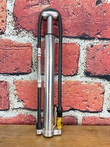 Lezyne Micro Floor Drive High Volume Pump with Pressure Gauge 120PSI Silver