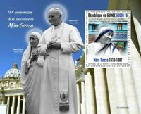 Guinea Mother Teresa Stamps 2020 MNH Pope John Paul II Famous People 1v S/S