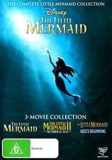 The Little Mermaid Trilogy (The Little Mermaid / The Litt . - DVD - NEW Region 4