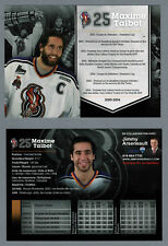 2000-2004 Hull Olympiques Max Talbot (Penguins,Flyers), 2012-13 Tribute 5x7