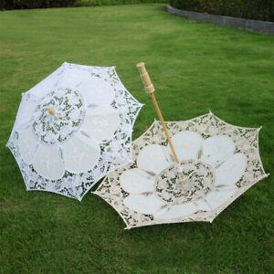 Lace Parasol Umbrella Beautiful Vintage Handmade For Bridal Wedding Party Decor