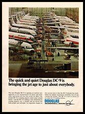 1967 McDonnell Douglas DC-9 Jetport Planes Manufacturing Plant Vintage Print Ad
