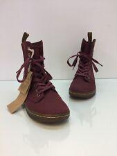 DR MARTENS Stratford Boots Burgundy Women Shoes Size 5L