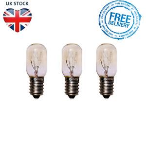 3 Pack Himalayan Salt Lamp Fridge Bulb Screw Pygmy Light Bulbs Set Clear 15W E14