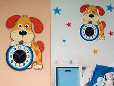 Kinder Dekorative Wanduhr mit Hund Wandtattoo