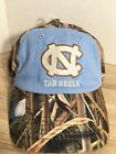 NWT UNC Carolina Blue Tarheels HAT NCAA CAP Mossy Oak Camo Adjustable Strap