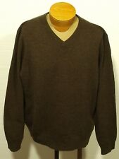 men's POLO RALPH LAUREN lambswool sweater lambs wool jumper pullover v-neck XL