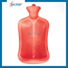 Borsa di acqua calda in pura gomma monolamellata colore rosso capacità 2 litri