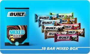 Built Bar 18 Pack Natural Protein, Fiber & Energy Bars Real Chocolate Mixed Box!