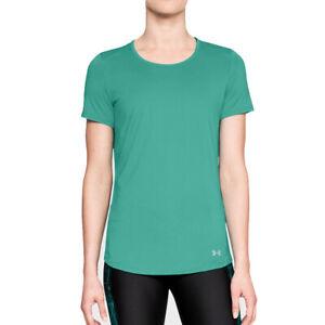 Under Armour UA Speed Stride Short Sleeved Green Ladies Sports T Shirt M