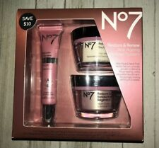 Boots No7 Restore Renew Face Neck Multi Action Skincare System Day Night Cream