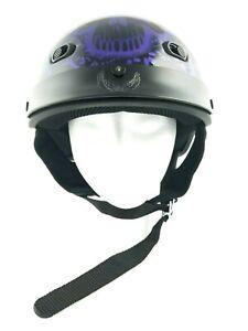 Purple (200) - DOT MOTORCYCLE HALF HELMET