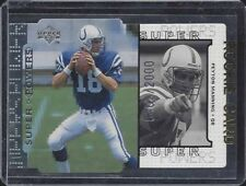 PEYTON MANNING 1998 UPPER DECK SUPER POWERS SILVER COLTS DIE CUT RC #D 403/2000