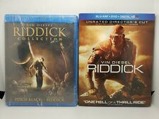 Pitch Black/Chronicles Of Riddick (New)+Riddick Director Cut (Like-New) Blu-ray