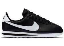 NIB Mens Nike Cortez Basic Leather Black Metallic Silver White 819719 012