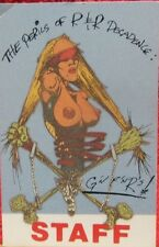 "Guns N Roses Laminated Backstage Pass ""The Perils Of R & R Decadence"" Authentic"