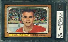 1966 67 TOPPS #51 BERT MARSHALL RC ROOKIE KSA 9.5 NEAR GEM MINT!! RED WINGS